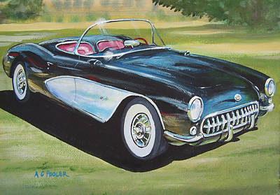 Sportscar Painting - Hop In Shut Up And Hang On by Anthony Pooler