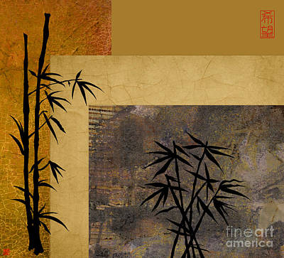 Digital Art - Hope And Bamboo by Nola Lee Kelsey