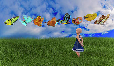 Flutter Digital Art - Hope by Betsy Knapp