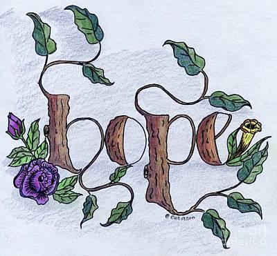 Drawing - Hope by Eva Ason