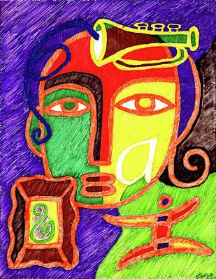 Angel Blues Drawing - Hope by Farah Faizal