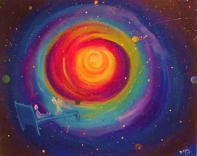 The Universe Painting - Hope For Eternety by Deyanira Harris