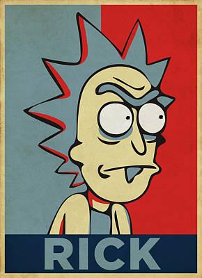 Rick Wall Art - Digital Art - Hope For Rick by Rick And Morty