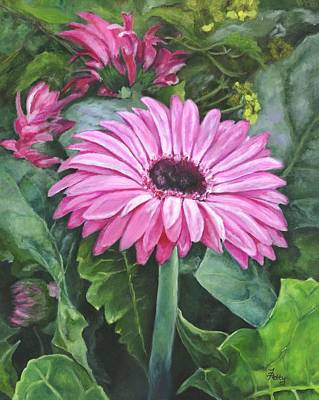 Gerber Daisy Painting - Hope by Freida Petty