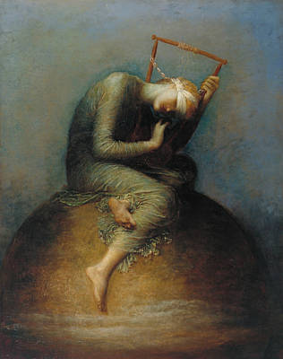 Globe Painting - Hope by George Frederic Watts