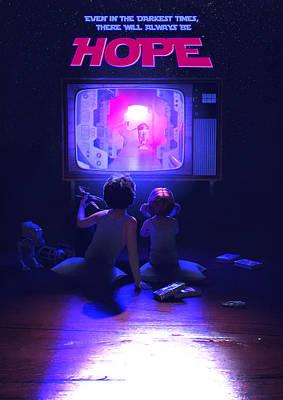 Death Star Digital Art - Hope by Guillem H Pongiluppi
