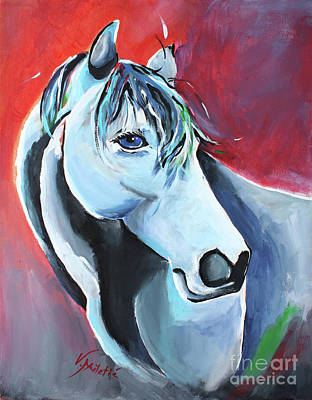 Equine Painting - Hope - Horse Art By Valentina Miletic by Valentina Miletic