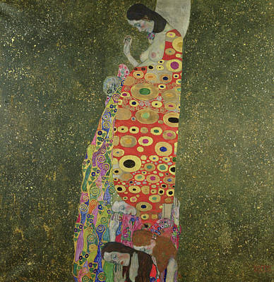 Painted Ladies Painting - Hope II by Gustav Klimt