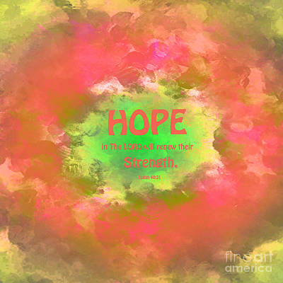 Isaiah Digital Art - Hope In The Lord Abstract by Beverly Guilliams