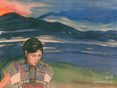 Mayan Painting - Hope In The Morning by Donna Newsom