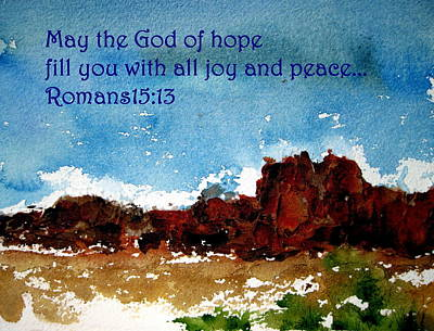 Painting - Hope Joy And Peace by Anne Duke