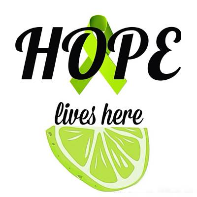 Pop Art Photograph - Hope Lives Here Lyme Disease Awareness Ribbon And Lime by Laura Michelle Corbin