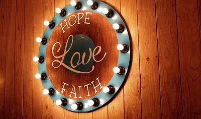 Believe Digital Art - Hope Love Faith by Cco
