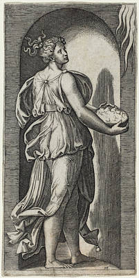 Drawing - Hope by Marcantonio Raimondi