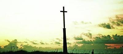 Jacksonville Beach Photograph - Hope Ocean Cross by Deb Campbell