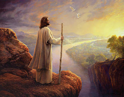 Staff Painting - Hope On The Horizon by Greg Olsen