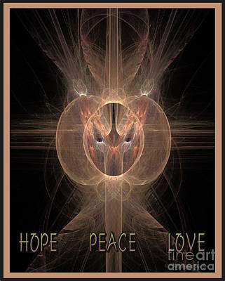 Digital Art - Hope Peace Love  by Suzanne Schaefer