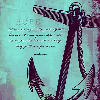 Hope Peaceful Shores V3 Art Print by Brandi Fitzgerald