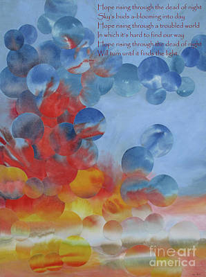 Mixed Media - Hope Rising - With Poem by Jeni Bate
