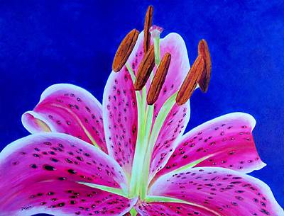 Oriental Lily Painting - Hope by Susan DeLain