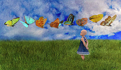 Toddlers Digital Art - Hope -- Textured  by Betsy Knapp
