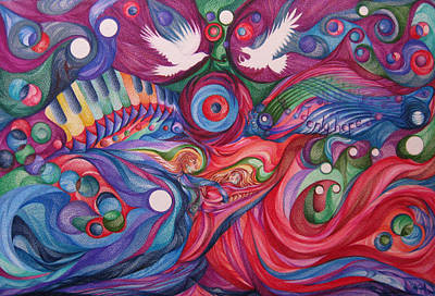 Blending Drawing - Hope Through Creation by NHowell