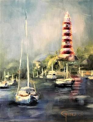 Painting - Hope Town Harbor by Kathy Lynn Goldbach