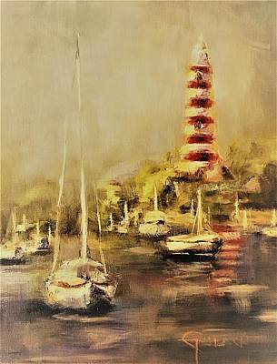 Painting - Hope Town Harbor Vintage by Kathy Lynn Goldbach