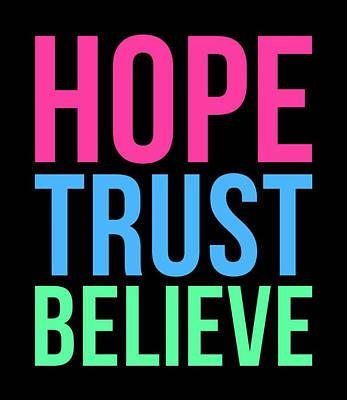 Lady Bug - Hope Trust Believe by Maria Elena Ferran