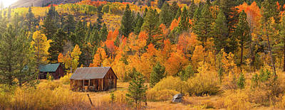 Photograph - Hope Valley Fall Cabin By Brad Scott by Brad Scott