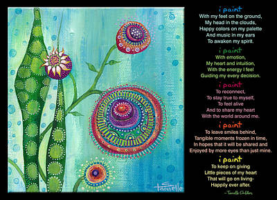 Painting - Hope With Poem by Tanielle Childers