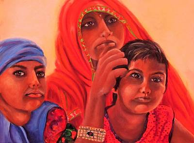 Painting - #hopeful In India by Carol Allen Anfinsen