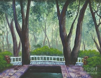 Hopeland Gardens Pool Art Print