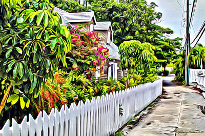 Hopetown Alley  Art Print by Anthony C Chen