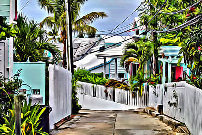 Hopetown Back Road Art Print by Anthony C Chen