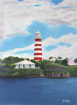 Painting - Hopetown Lighthouse Number Two by Maria Mills