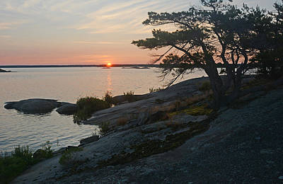 Purely Purple - Hopewell Bay Island Sunrise1 by Steve Somerville