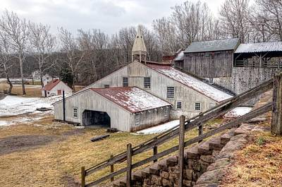 Historic Site Photograph - Hopewell Furnace In February-v2 by Don Schroder