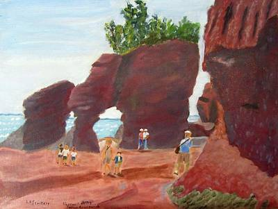 Painting - Hopewell Rocks2 by Linda Feinberg