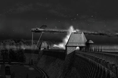Digital Art - Hopgood's Last Run Black And White Version by Gary Eason