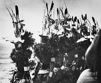 Photograph - Hopi Dancers C1913 by Granger