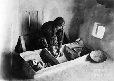 Hopi: Grinding Corn, C1911 Art Print