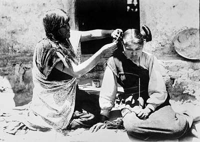 Photograph - Hopi Hair Dresser, C1909 by Granger