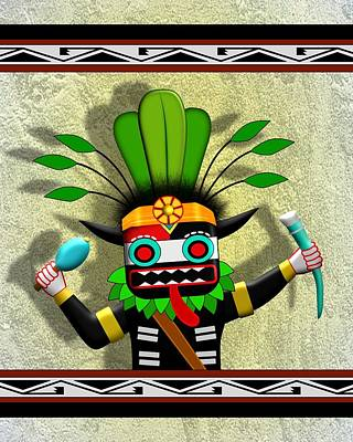 Digital Art - Hopi Harvest Kachina by John Wills