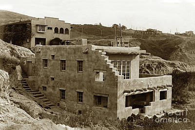 Photograph - Hopi House, 7964 Princess Street , La Jolla, California  Circa 1916 by California Views Mr Pat Hathaway Archives