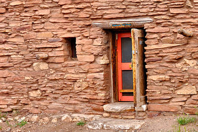 Hopi House Door Art Print by Julie Niemela