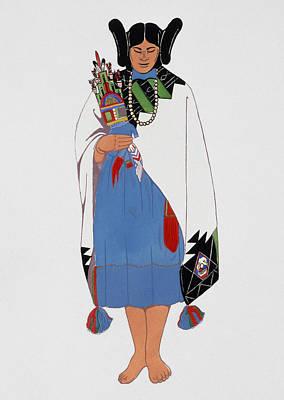Hopi Indian, C1880 Art Print by Granger