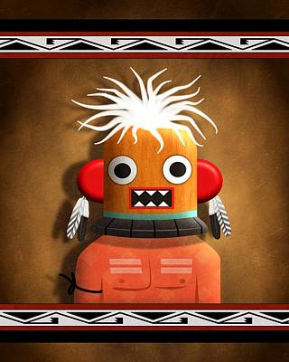 Digital Art - Hopi Indian Kachina by John Wills