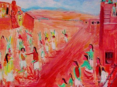 Painting - Hopi Indian Ritual by Stanley Morganstein