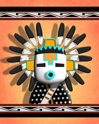 Digital Art - Hopi Kachina Mask by John Wills